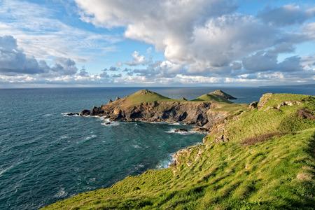 headland: The Rumps a rocky headland on the north coast of Cornwall