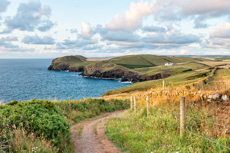quin: The South West Coast Path from Trevan Point looking out to Port Isaac on the north coast of Cornwall