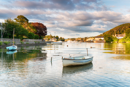 river: Boats on the river Tamar at Millbrook in Cornwall