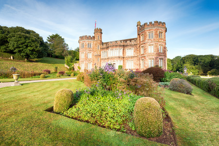 jacobean: An English stately home with formal gardens at Mount Edgcumbe in Cornwall Editorial