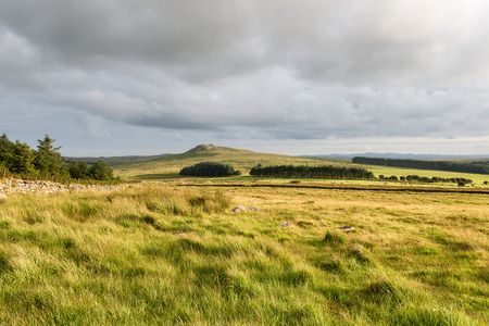 moor: Bodmin Moor in Cornwall looking out to the slopes of Garrow Tor