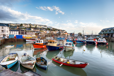 Boats in the harbour at Mevagissey in Cornwall