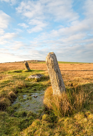 bodmin: The Trippet Stones on Bodmin Moor in Cornwall