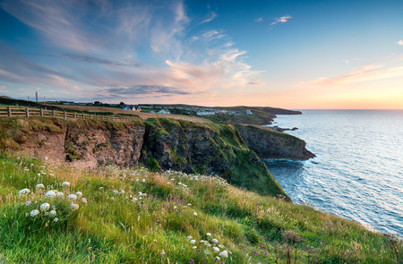 isaac: Sunset from cliffs above Port Gaverne and looking out to Port Isaac