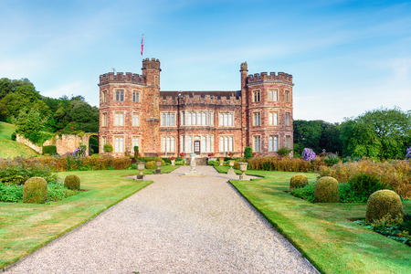 stately home: A stately home at Mount Edgcumbe in Cornwall