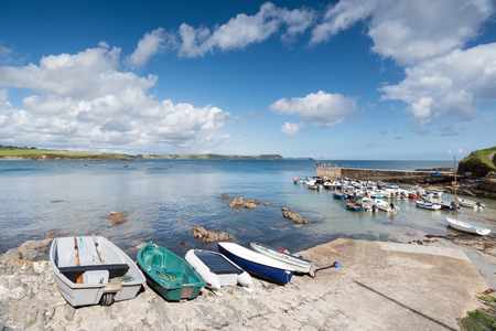 south coast: The harbour at Portscatho on the south coast of Cornwall Stock Photo