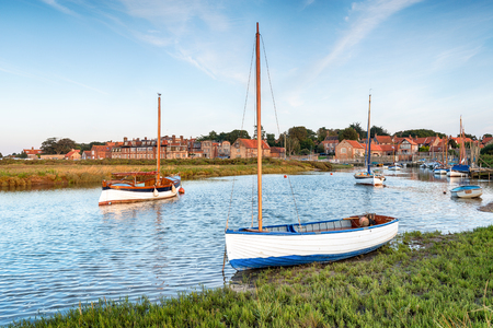 marshes: High tide on the salt marshes at Blakeney on the north coast of Norfolk Stock Photo