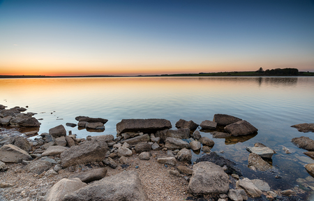 bodmin: Dusk at Colliford lake on Bodmin Moor in Cornwall