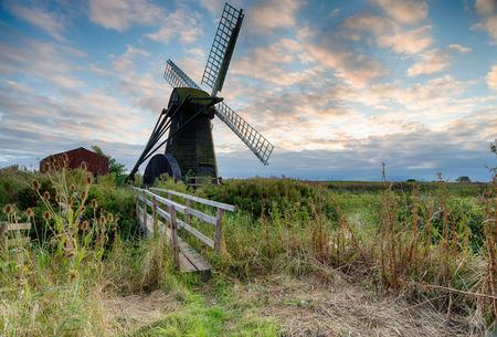 smock: Herringfleet Mill a smock windmill on the Suffolk side of the Norfolk Broads Stock Photo