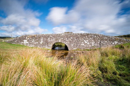 bodmin: A long exposure of Temple Bridge on Bodmin Moor in Cornwall Stock Photo