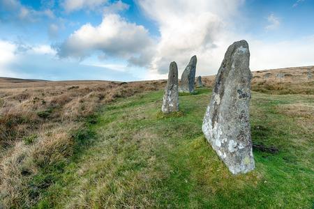 stone circle: Stones at Scorhill Stone Circle on Dartmoor National Park in Devon