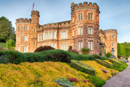 stately home: An English stately home in the style of a castle at Mount Edgcumbe in Cornwall Editorial