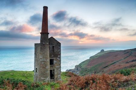 prosper: Wheal Prosper tin mine at Rinsey on the Cornwall coast