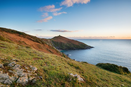 south coast: Sunset over Rame Head on the south coast of Cornwall