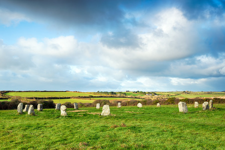 stone circle: The Merry Maidens Stone Circle near Lands End in Cornwall