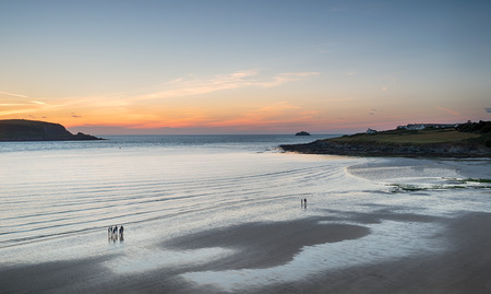 english west country: Sunset over Daymer Bay near Rock in Cornwall