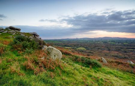 bodmin: A rocky outcrop of granite at Helman Tor near Bodmin in the Cornish countryside Stock Photo