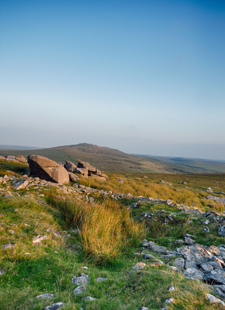 bodmin: The foothills of Roughtor on Bodmin Moor in Cornwall