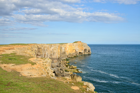 pembrokeshire: Cliffs at St Govans Head on the Pembrokeshire Coast National Park in Wales