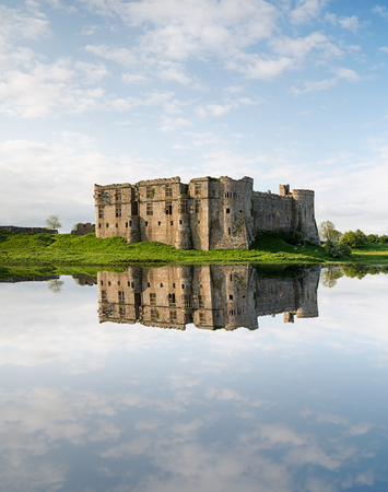 The castle at Carew in Pembrokeshire in Wales