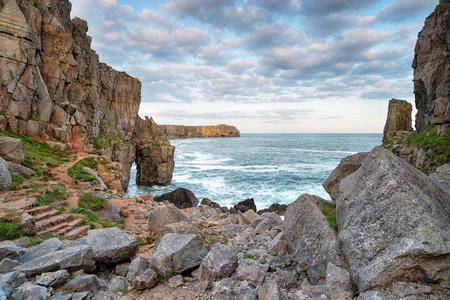 pembrokeshire: Rugged dramatic coastline at St Govans Head in Pembrokeshire