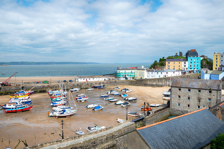 tenby wales: The harbour at Tenby an historic fishing port on the Pembrokeshire coast in Wales