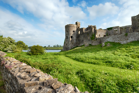 Carew Castle on the Pembrokeshire coast in Wales Stock Photo