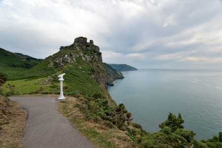 lynton: A gloomy day at the Vally Of The Rocks at Lynmouth in Devon