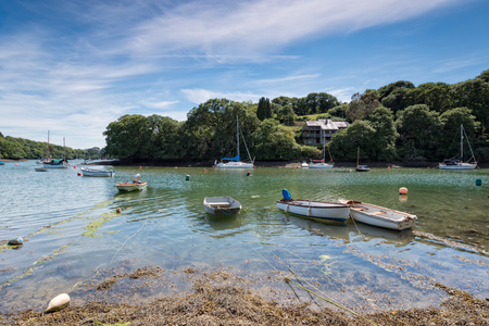 shorelines: Boats at Port Navas in Cornwall