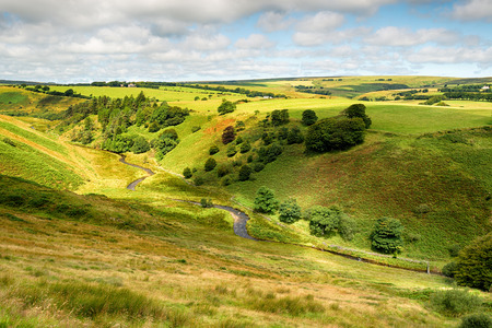 The River Barle from the top of Goat's Hill near Simonsbath on Exmoor National Park on the Somerset and Devon borders.