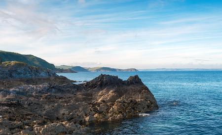 coastline: The Cornish coastline at Mevagissey Stock Photo