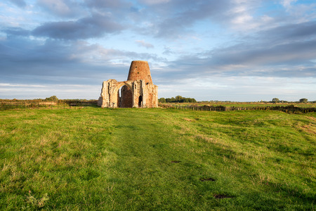 St Benets Abbey ruins in Norfolk Stock Photo