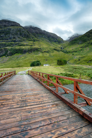 glencoe: A mountain cottage at Glencoe in the highlands of Scotland
