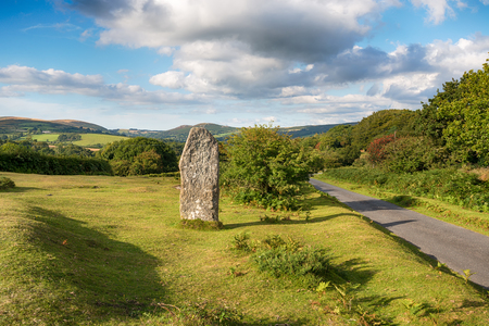 standing stone: A standing stone commemorating the Silver Jubilee of Queen Elizabeth at Leusdon on Dartmoor