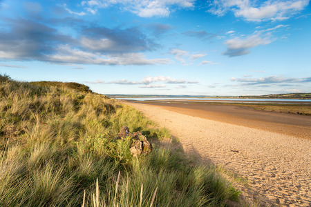 burrows: The beach at Braunton Burrows near Barnstaple on the Devon coast