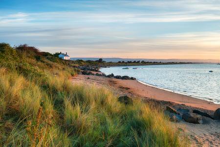 burrows: The beach at Crow Point at Braunton Burrows near Barnstaple on the Devon coastline