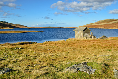 Devoke Water on the Lake District National Park in Cumbria Stock Photo