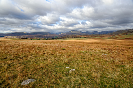 nether: Rugged moorland near Nether Wasdale in Cumbria