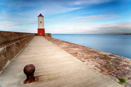The lighthouse at Berwick on Tweed in Northumberland and close to the Scottish border