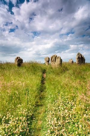 new age: The Duddo Stone circle near the Scottish border in Northumberland