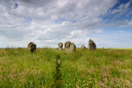 Summer at the Duddo Stones, a small stone circle near the Scottish border in Northumberland