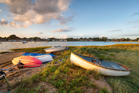 Boats on the shore at Bosham near Chichester in West Sussex