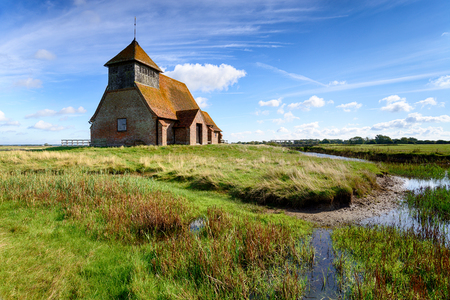 St Thomas a Becket Church at Fairfield on Romney Marsh in the Kent countrside
