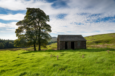 An old barn at Wildboarclough in the Cheshire Peak District