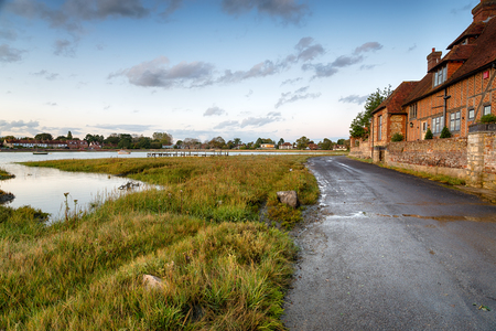 Late evening at Bosham near Chichester on the Sussex coast Stock Photo