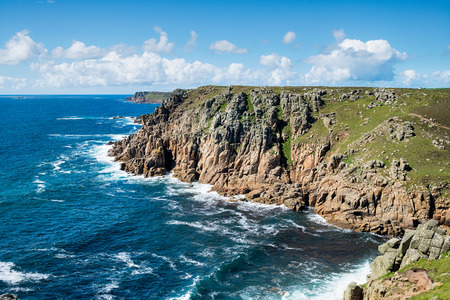 The south west coast path between Gwennap head and Land's End on the Cornwall coast