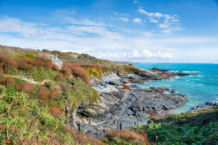 Prussia Cove a small hamlet named after an 18th Century smuggler, near Penzance on the Cornwall coast