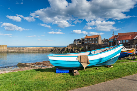 The pretty fishing village at Craster on the Northumberland coast Stock Photo
