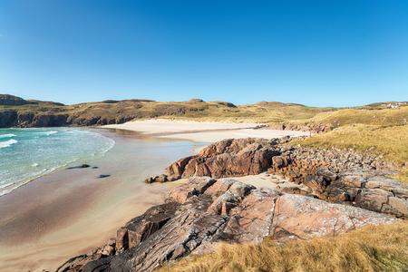 Polin Beach bei Oldshore Beg in der Nähe von Kinlochbervie in Sutherland im schottischen Hochland
