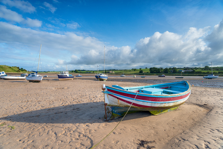 Fishing boats at Alnmouth on the Northumberland coast Stock Photo